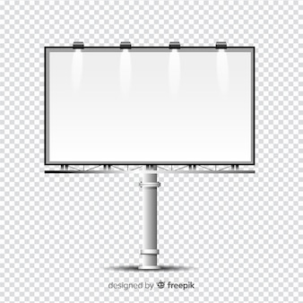 Modèle de panneau d'affichage réaliste