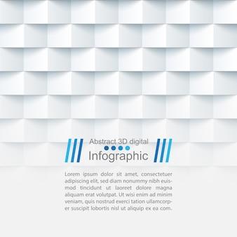 Modèle de papier abstrait - style origami