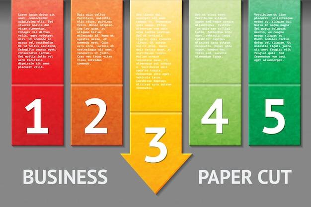 Modèle de papier d'affaires coupé