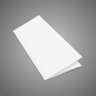 Modèle de papier blanc dépliant plié vierge