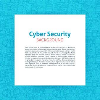 Modèle de papier de cybersécurité. illustration vectorielle de papier sur la conception de contour.