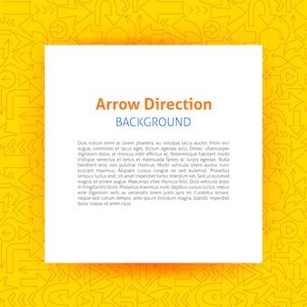 Modèle de papier de direction de flèche. illustration vectorielle de la conception de contour.