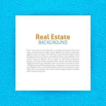 Modèle de papier immobilier. illustration vectorielle de papier sur la conception des contours de la maison et du bâtiment.