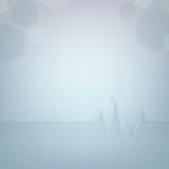 Modèle de papier peint médical abstrait