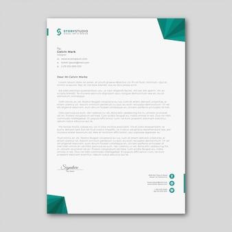 Modèle de papier à en-tête d'affaires abstrait