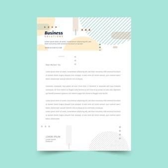 Modèle de papier à en-tête commercial général