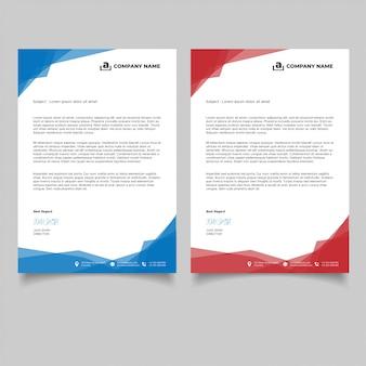Modèle de papier à en-tête de création d'entreprise moderne