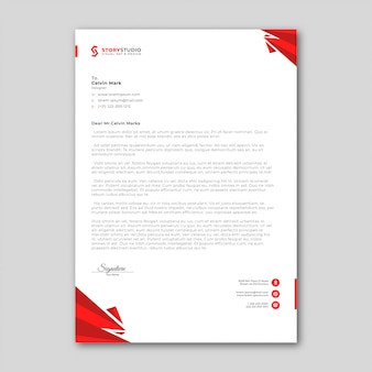 Modèle de papier à en-tête d'entreprise abstrait