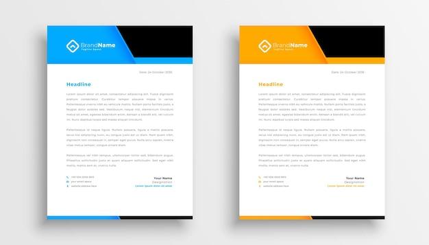 Modèle de papier à en-tête d'entreprise géométrique