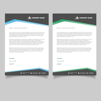 Modèle de papier à en-tête de entreprise minimale