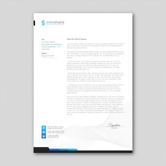 Modèle de papier à en-tête d'entreprise simple