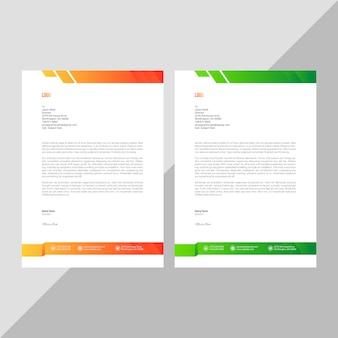 Modèle de papier à en-tête de l'entreprise