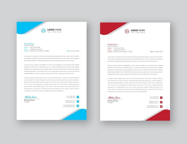 Modèle de papier à en-tête eps d'affaires professionnel