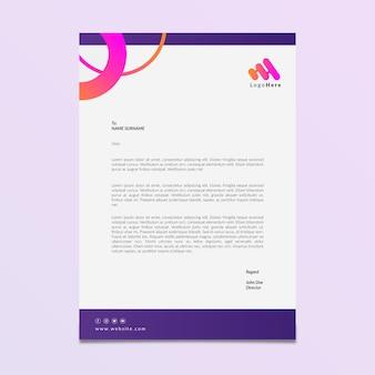 Modèle de papier à en-tête de marketing commercial