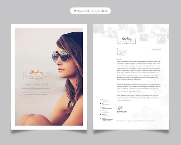 Modèle de papier à en-tête de photographie