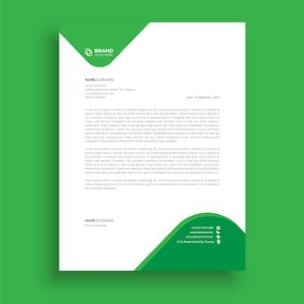 Modèle de papier à en-tête professionnel modèle de papier à en-tête minimaliste papier à en-tête d'entreprise