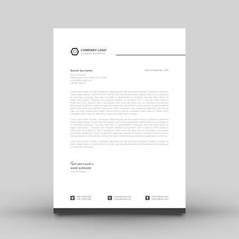 Modèle de papier à en-tête simple et moderne pour l'entreprise
