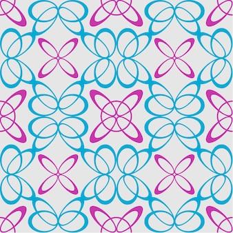 Modèle de papillon et fleur géométrique