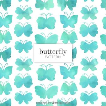 Modèle de papillons d'aquarelle