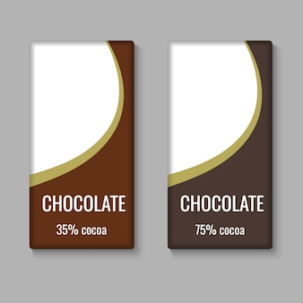 Modèle de paquet de barre de chocolat réaliste