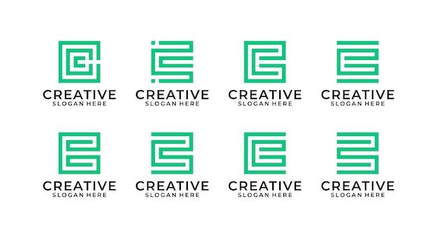 Modèle de paquet de conception de logo lettre g