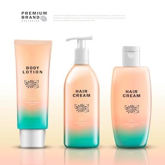 Modèle de paquet cosmétique élégant
