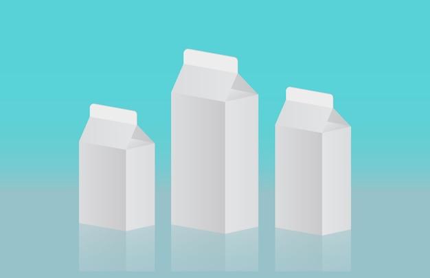 Modèle de paquet de lait 3d