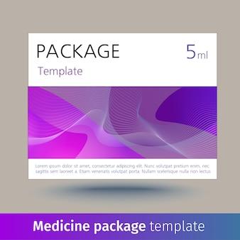 Modèle de paquet de médicaments.