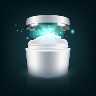 Modèle de paquet vide de masque crème