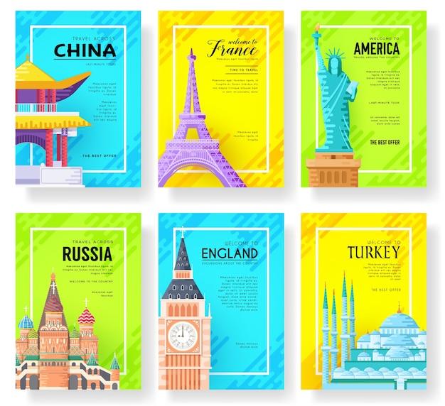 Modèle de paysage de flyear, affiches, livre, bannières.