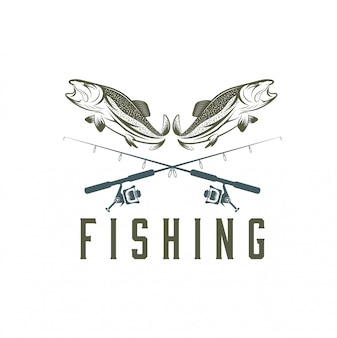 Modèle de pêche vintage