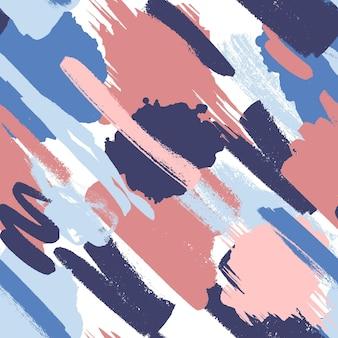 Modèle de peinture abstraite peinte à la main