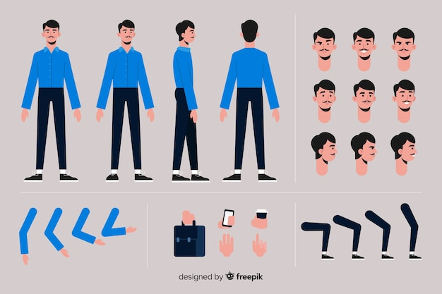 Modèle de personnage de dessin animé garçon