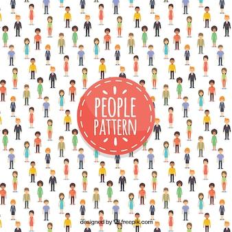 Modèle de personnes dans un style dessiné à la main