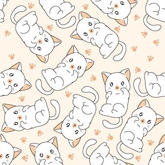 Modèle de petit chat sans soudure.
