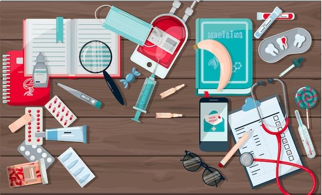 Modèle de pharmacie de bannière médicale de vecteur pour les hôpitaux annonçant les pharmacies formation internationale ...