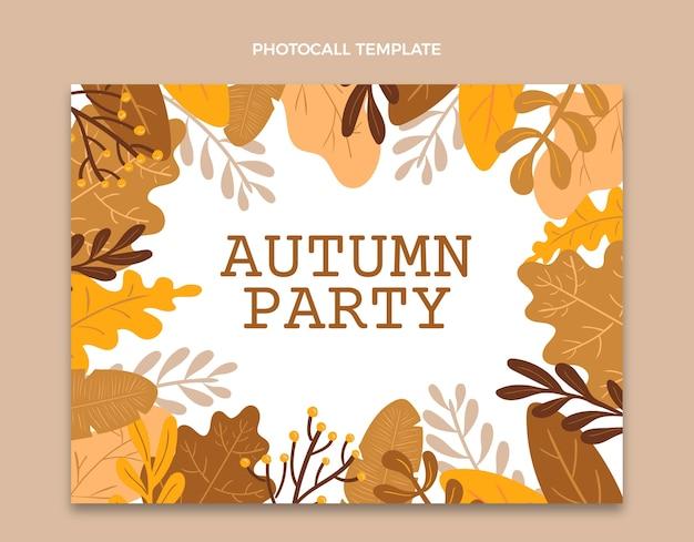 Modèle de photocall d'automne