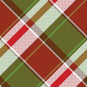 Modèle de pixel sans soudure de plaid abstrait rouge vert