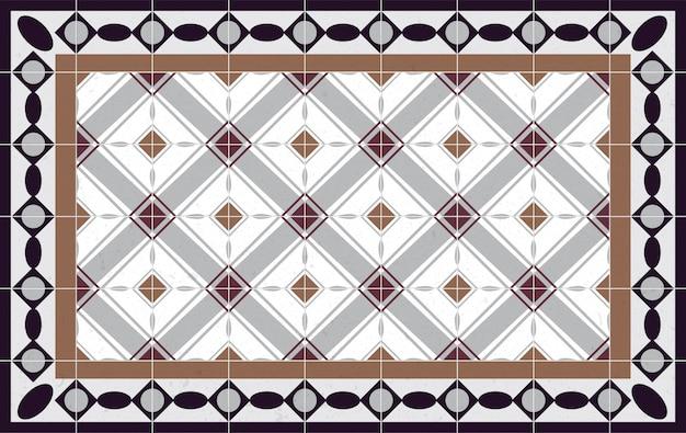 Modèle de plancher éléments décoratifs vintage. parfait pour l'impression sur papier ou tissu.