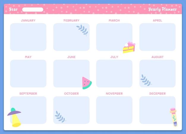 Modèle de planificateur annuel