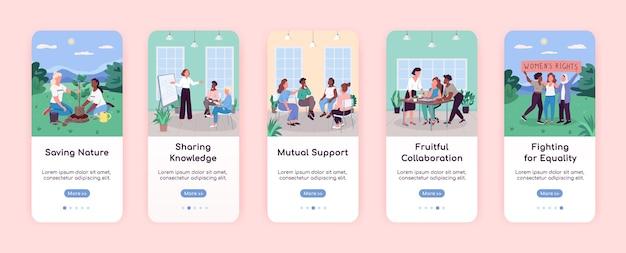 Modèle plat d'écran d'application mobile pour les femmes dans la société