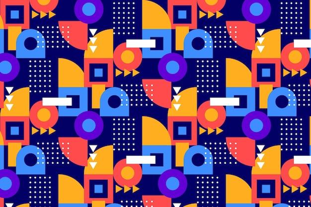 Modèle plat en mosaïque colorée