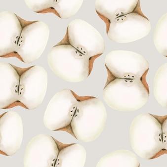 Modèle de pomme automne aquarelle