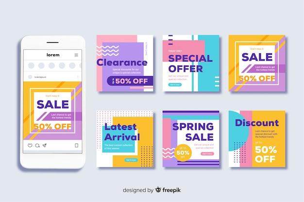 Modèle de post-collecte instagram en vente