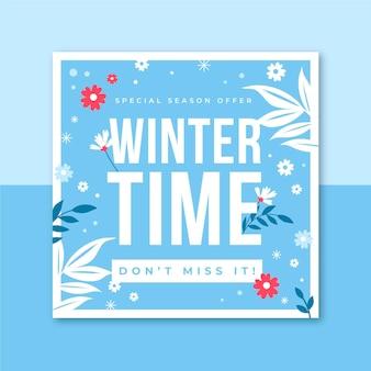 Modèle de post instagram d'hiver