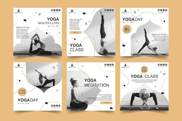 Modèle de post instagram de yoga