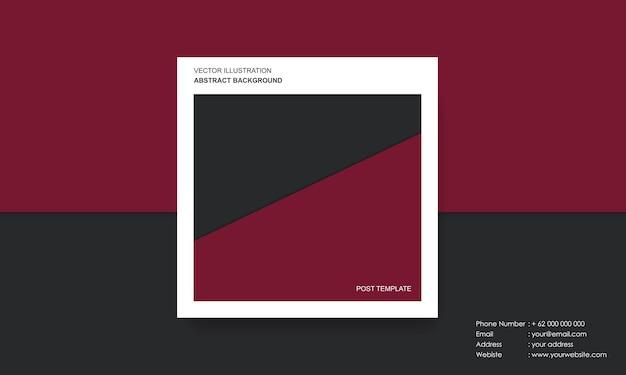 Modèle de poste avec concept moderne abstrait