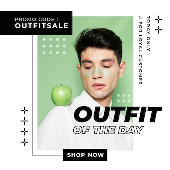 Modèle de poste instagram de vente