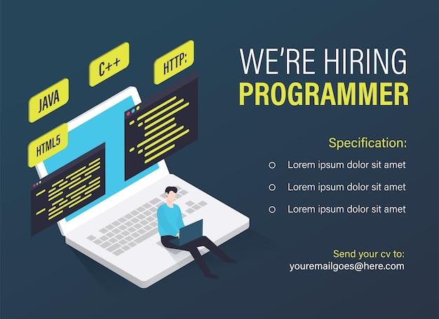 Modèle de poste vacant de programmeur