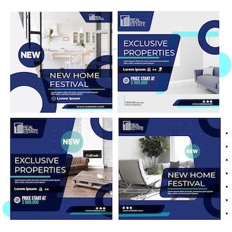 Modèle de posts instagram immobilier